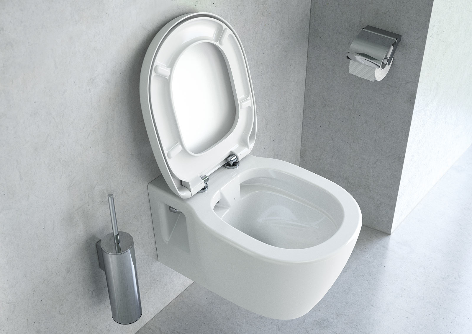 La cuvette sans bride pour wc suspendu for Lunette wc ideal standard