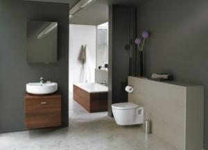 Une salle de bain moderne grâce aux WC suspendu